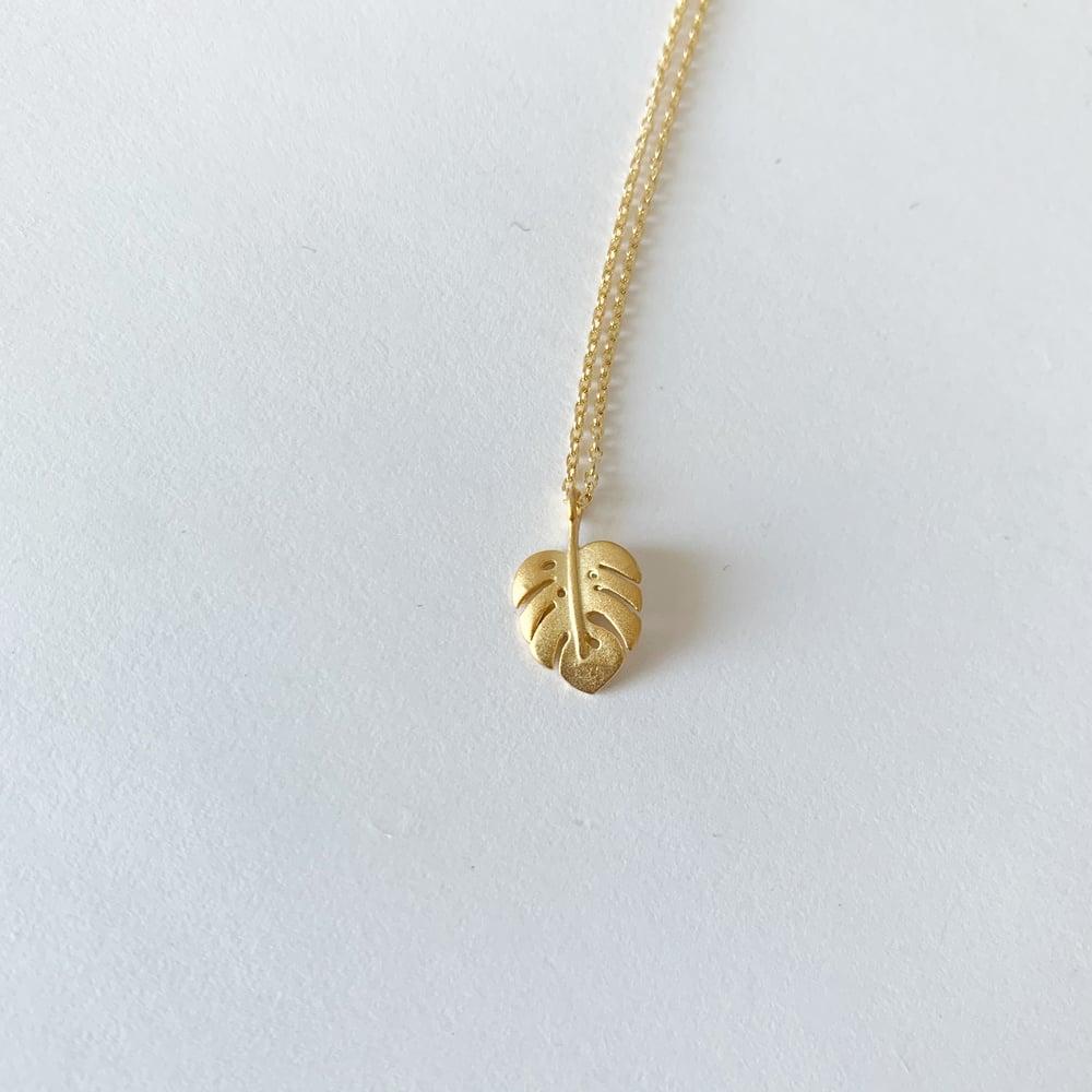 Image of Montsera leaf necklace
