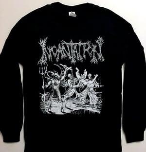 """Image of Incantation """" Blasphemous Cremation """" Long sleeve T shirt"""
