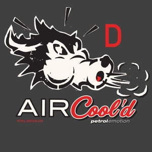 Image of Air Cool'd Wolf Clear Sticker