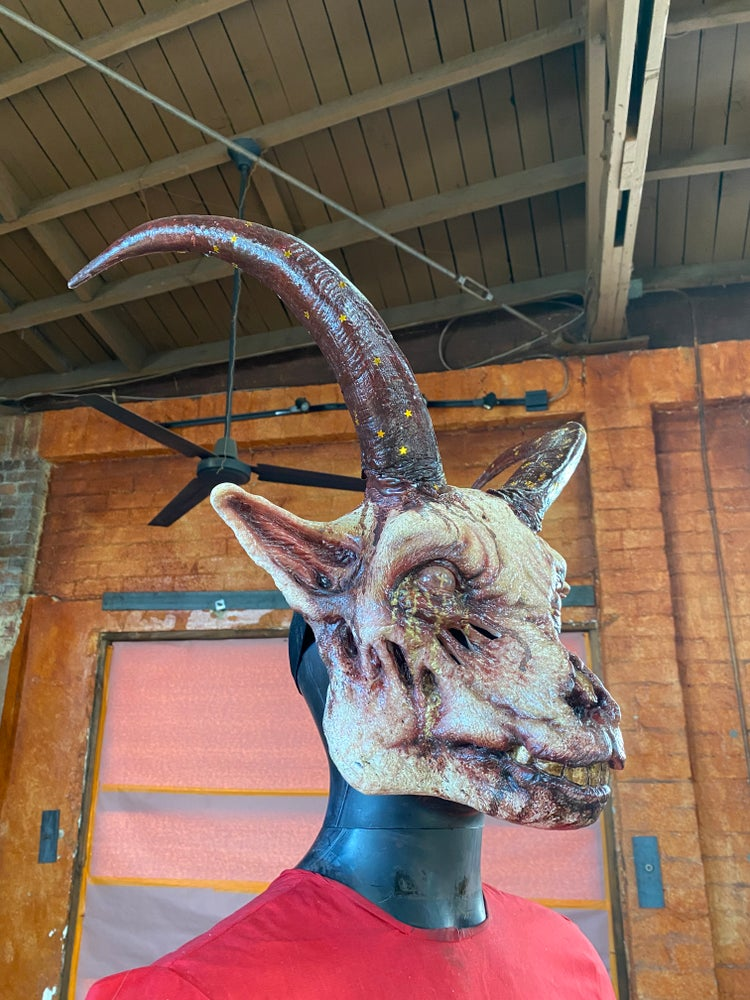 Image of MILK+TYPHOID one of a kind Goat mask