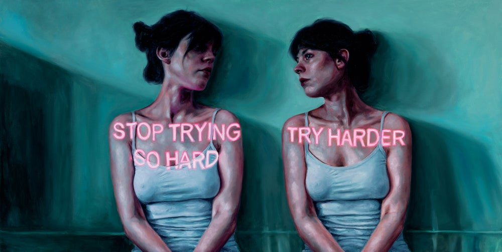 Try Harder/Stop Trying So Hard - Limited Edition Print