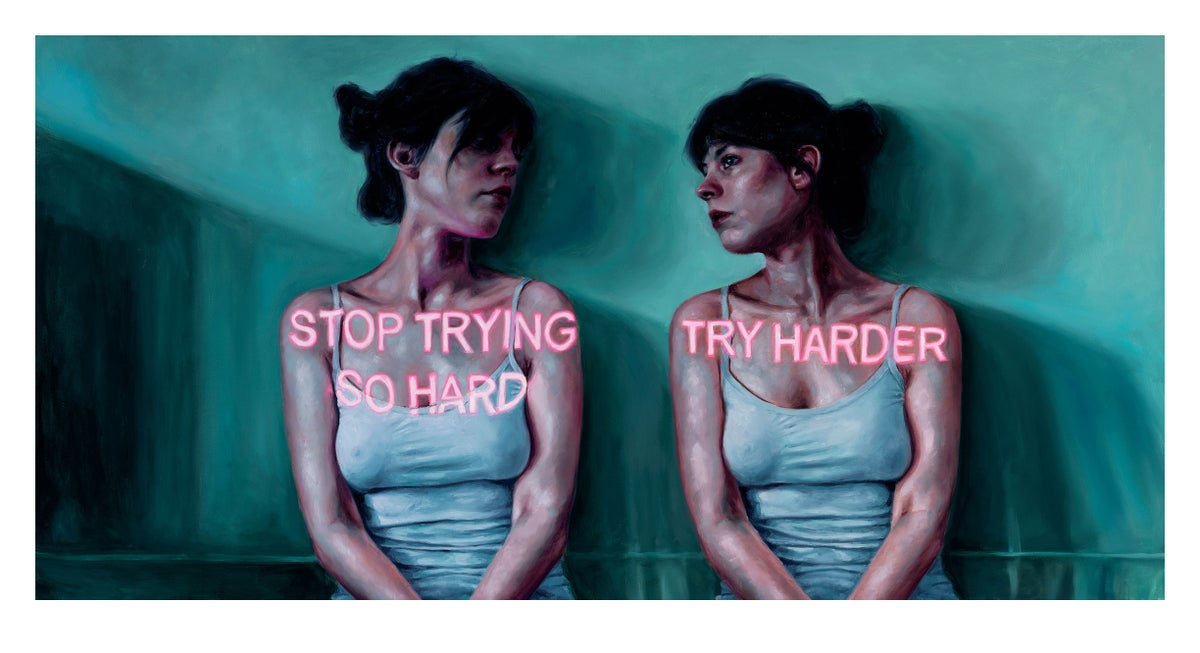 Try Harder/Stop Trying So Hard Limited Edition Print