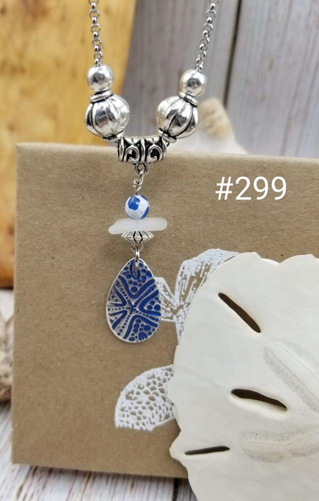 Image of Fine Silver- Handmade Pendant- Sea Glass- Necklace- #299