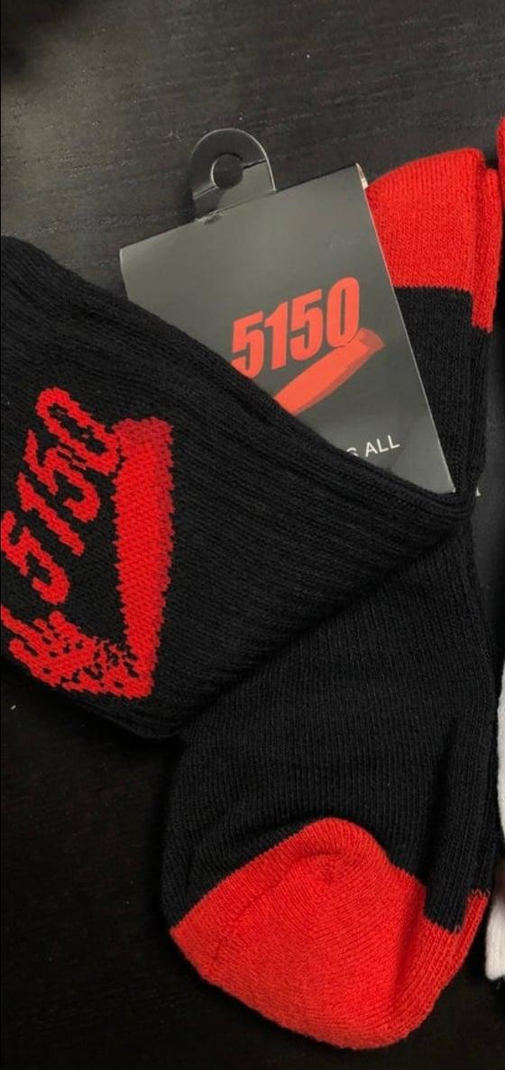 Image of 5150 Side Socks Black/Red