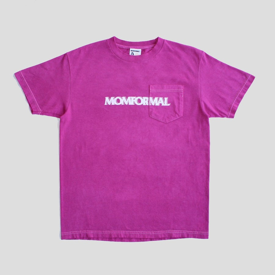 Image of FUCHSIA POCKET LOGO TEE