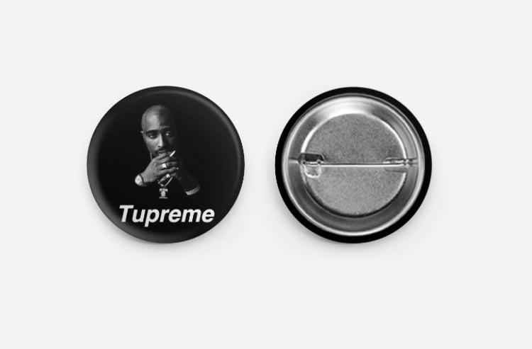 Image of Tupreme button (Black)