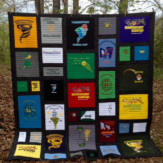 Image of DEPOSIT payment for custom graduation quilt, college dorm quilt, memory quilt, t-shirt quilt....