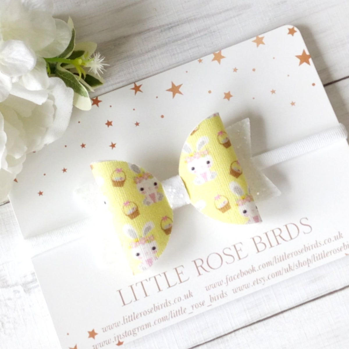 Image of Yellow Bunny Easter Bow