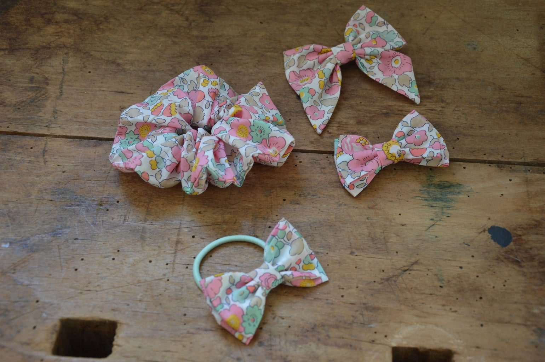 Image of chouchou, barrettes, elastique, liberty betsy cupcake