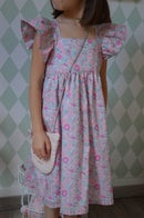 Image 2 of robe en Liberty Betsy amelie manches papillons