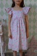 Image 3 of robe en Liberty Betsy amelie manches papillons