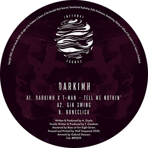 Image of IFS019: Darkimh - Tell Me Nothin' EP ft. T-Man [FULL SLEEVE ARTWORK]