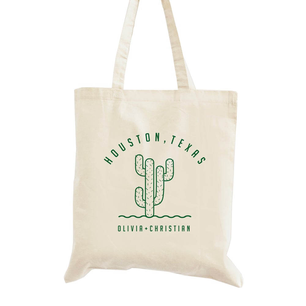 Image of Customizable Cactus Wedding Welcome Tote
