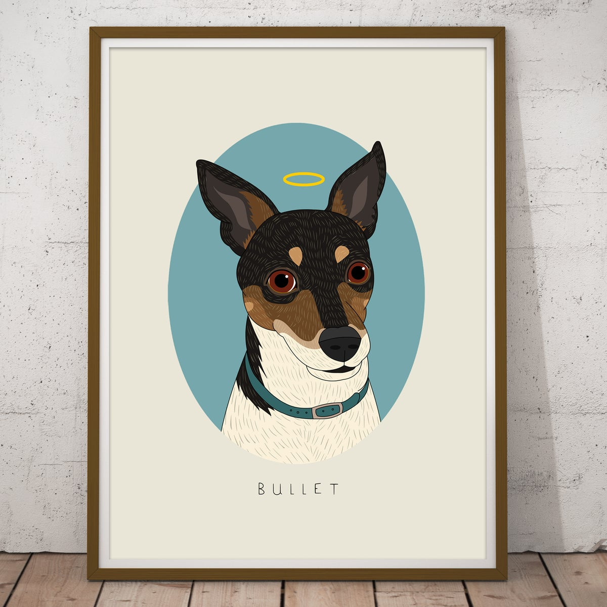 Image of Dog portrait. Digital Drawing from photo.