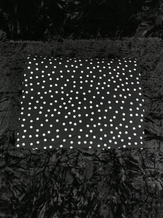 Image of Black/White Polka Dots Brushed Poly