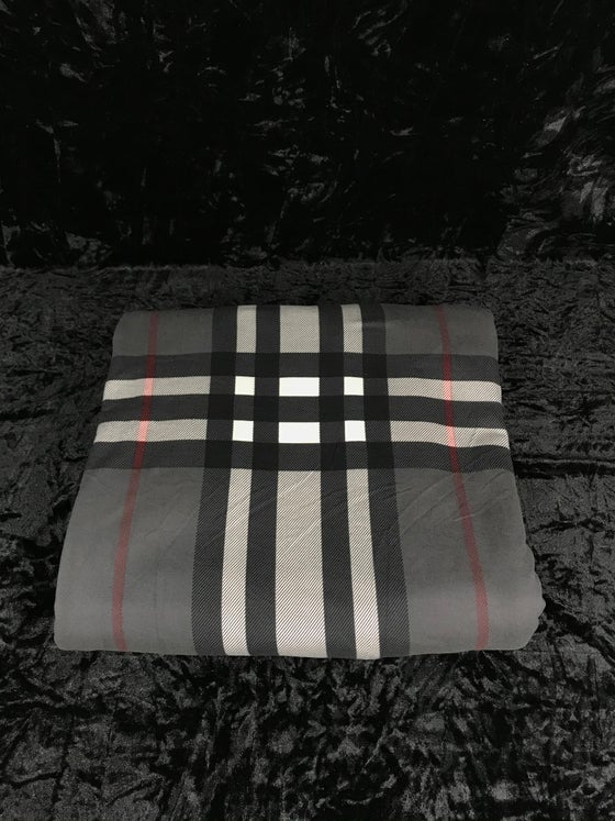 Image of Burberry Plaid Brushed Poly