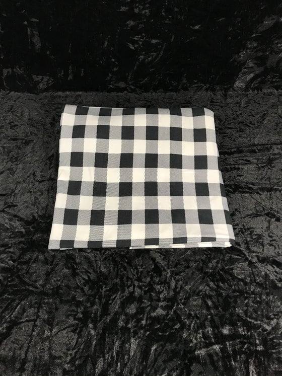 Image of Monochrome Gingham Brushed Poly