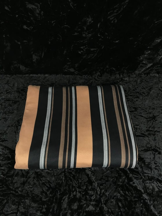Image of Neutral Brushed Poly Stripes