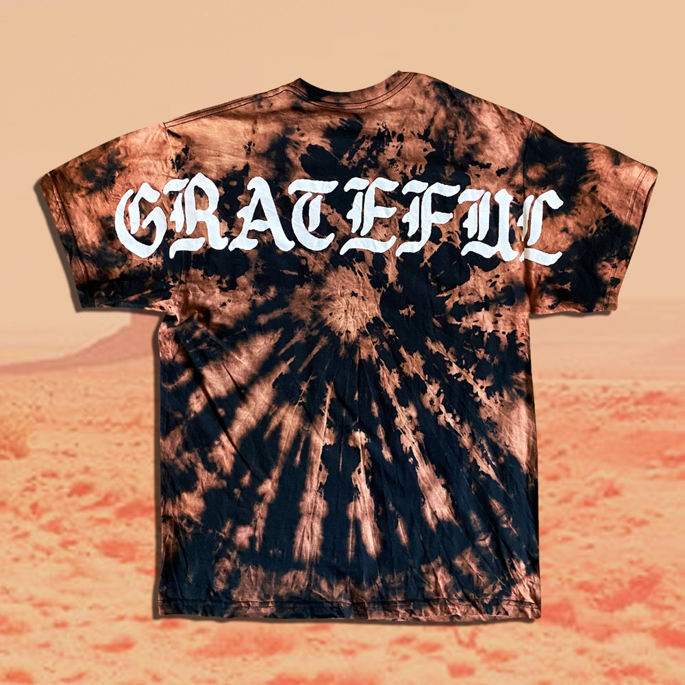 Image of Grateful Bleached Spiral Dyed Pocket Tee