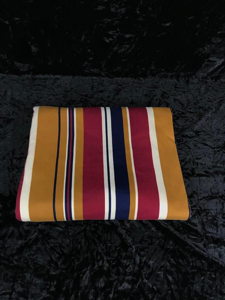Image of Boho Brushed Poly Stripes