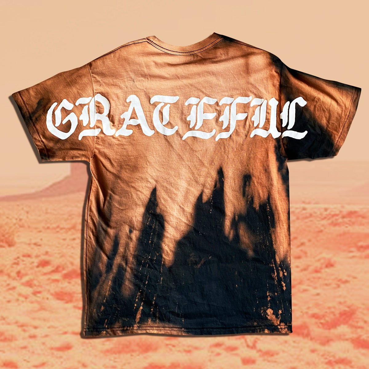 Image of Grateful Bleached Top Gradient Dyed Pocket Tee