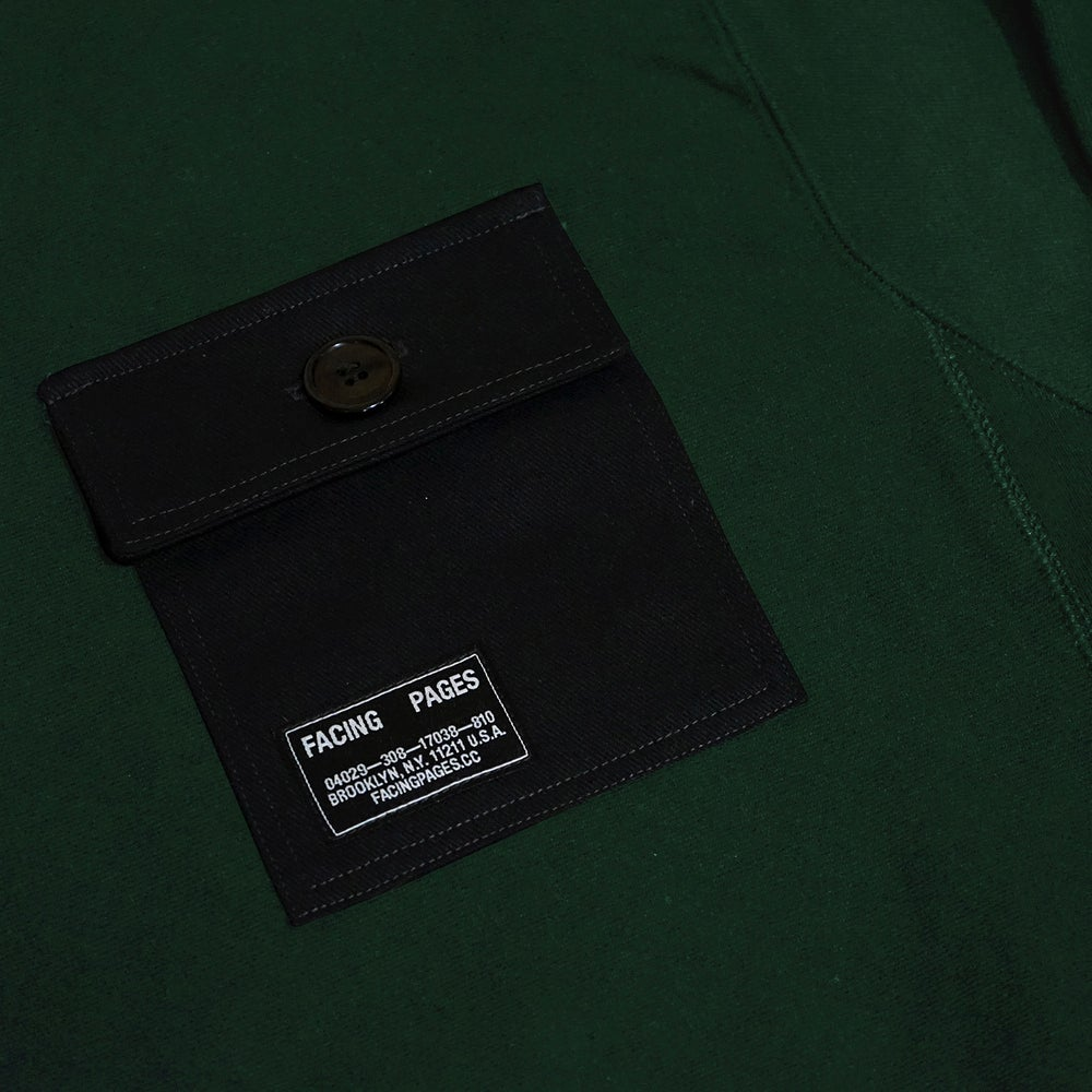 Image of UNIFORM CREWNECK, DARK GREEN