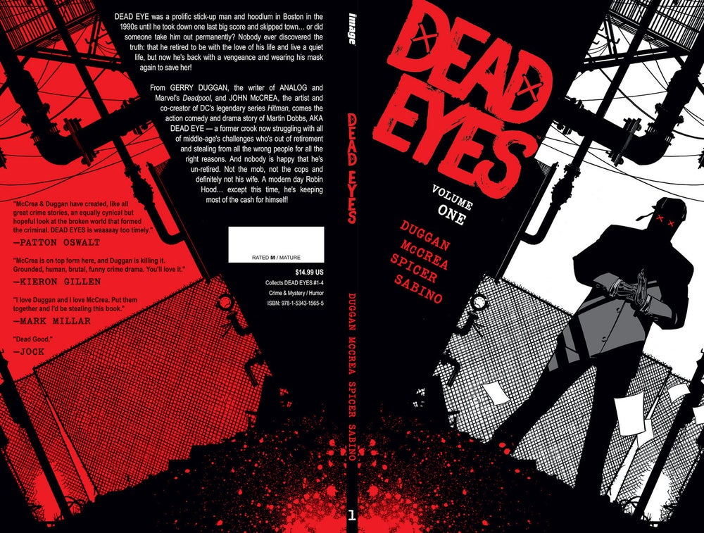Image of Dead Eyes Trade Paperback with sketch