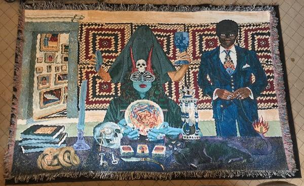 Image of Ritual woven blanket