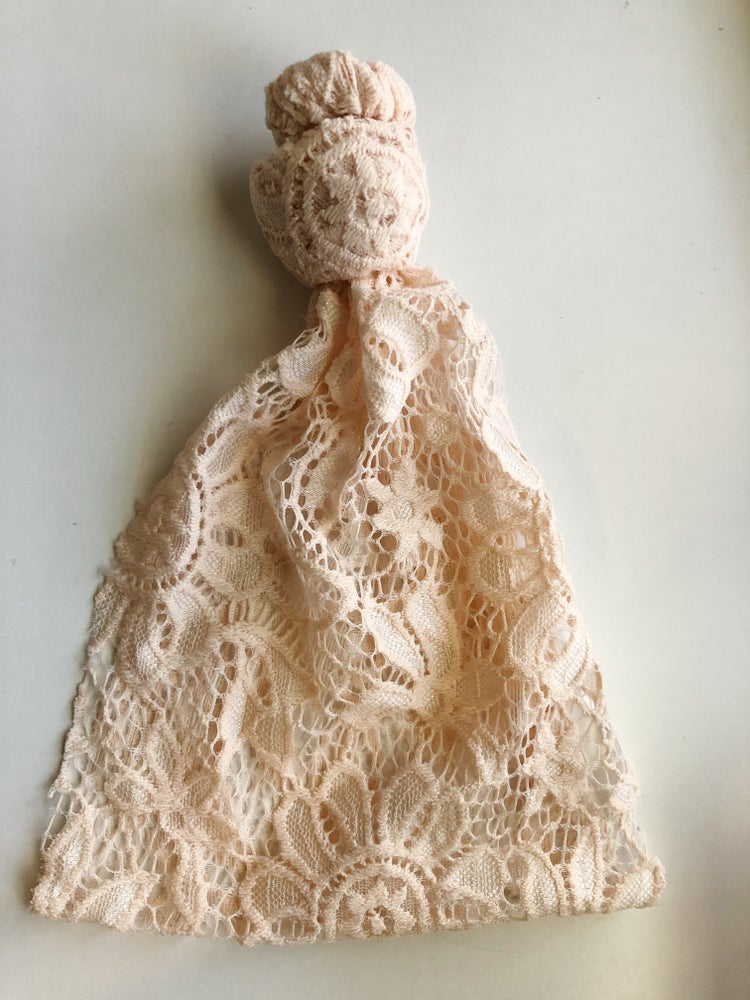 Image of Blush/nude lace knot