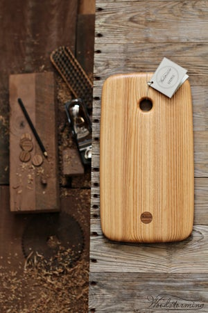 Image of Wood serving board in ash, charcuterie or cheese serving board