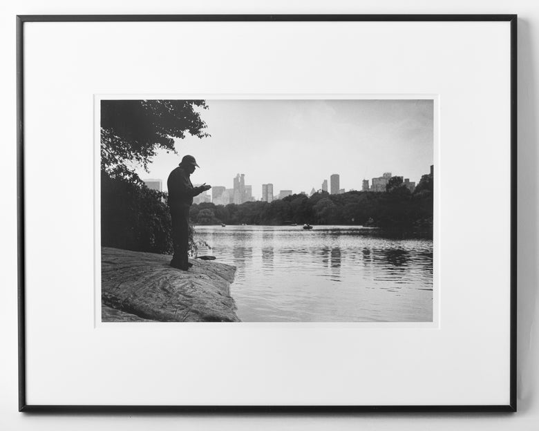 "Image of Central Park Prayer, 2001. 16""x20"" framed."