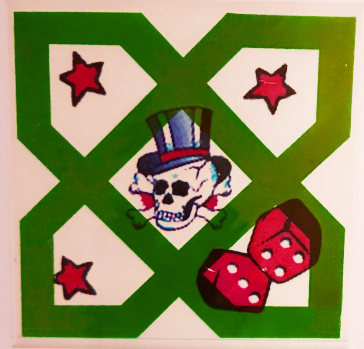 Skull and Lucky Dice Tile