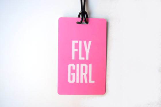 Image of Fly Girl Luggage Tag