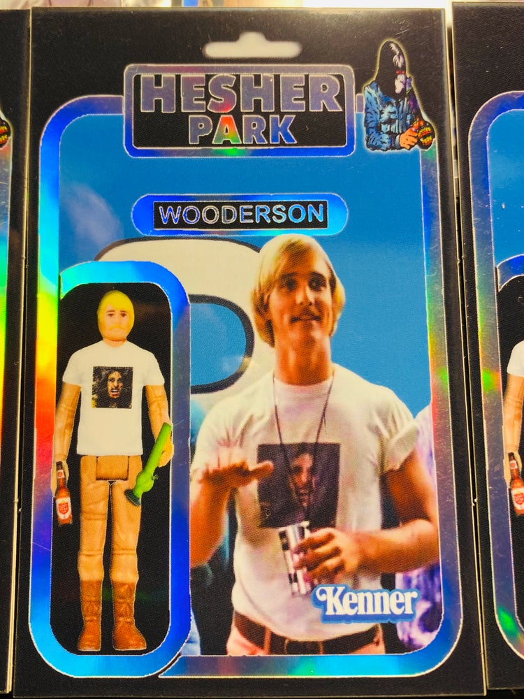 Image of WOODERSON SKYWALKER  HOLOGRAPHIC STICKER