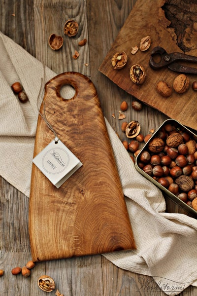Image of Oak wood serving board, cheese or charcuterie board