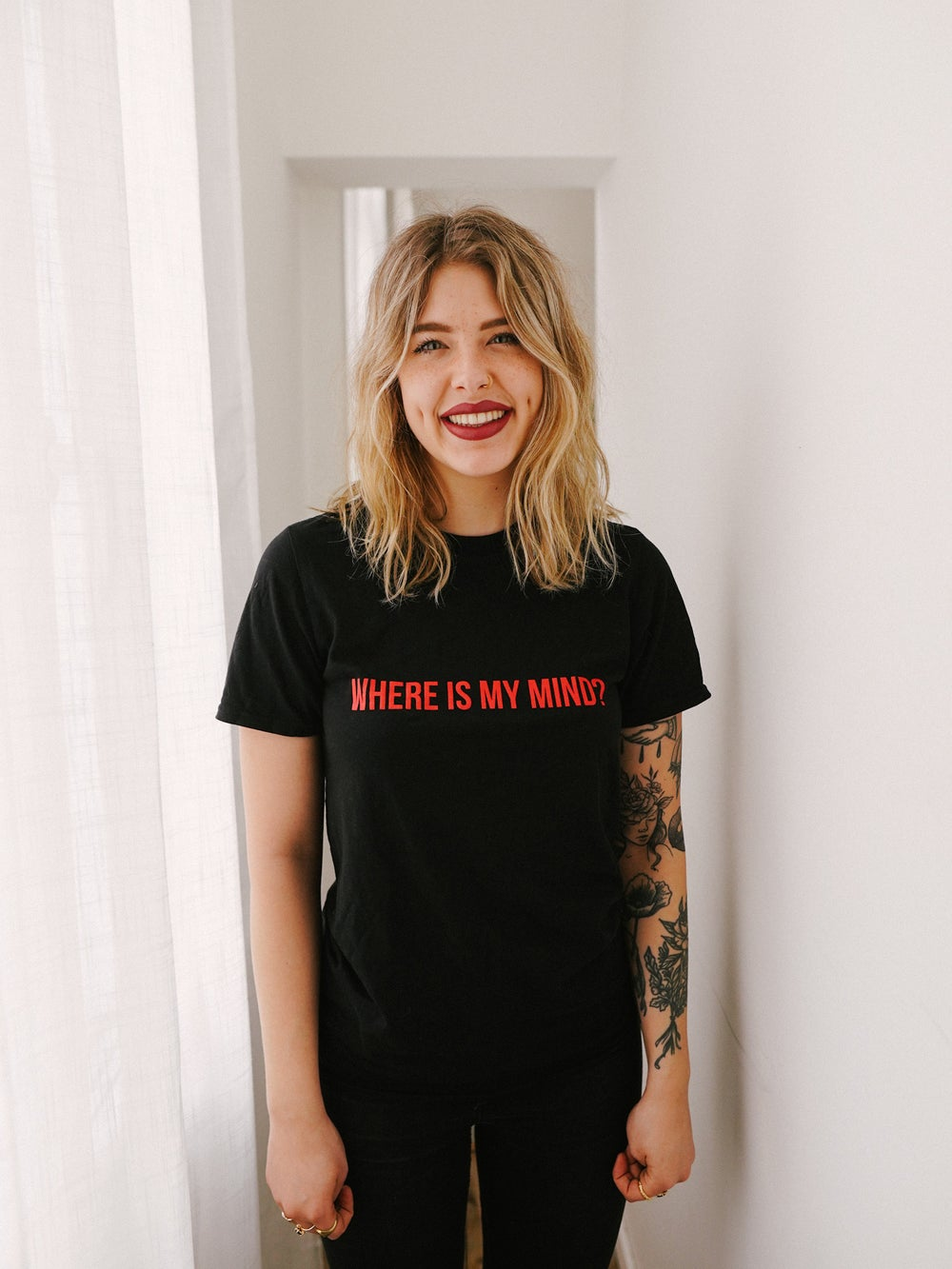 Image of T-shirt Where Is My Mind (Black) (Unisex)