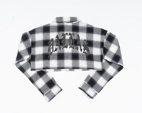 Image of DALLAS CROPPED FLANNEL (BLACK)