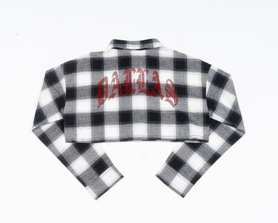 Image of DALLAS CROPPED FLANNEL (RED CRYSTAL)