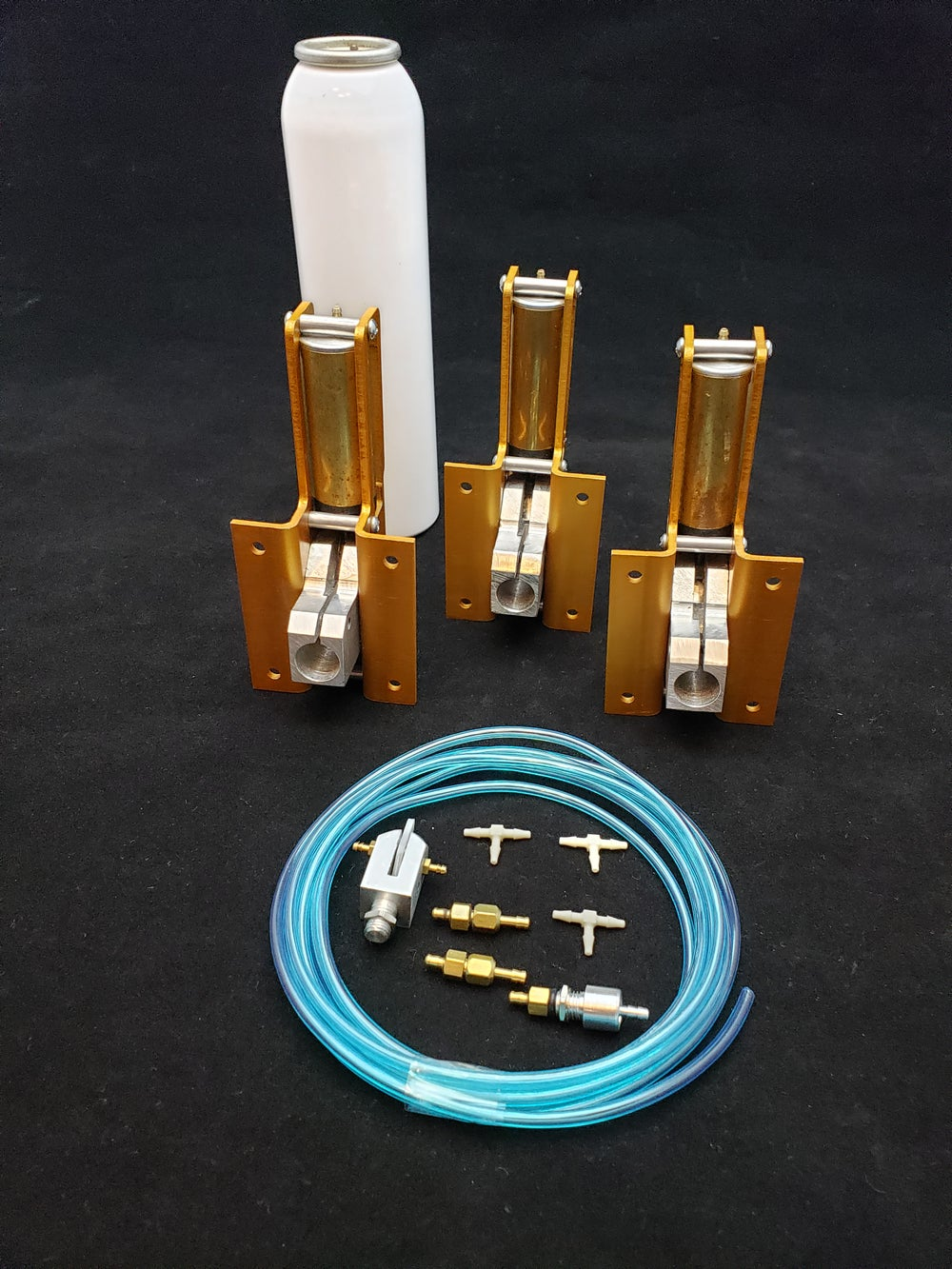 Image of 1/5 scale complete three gear set with 110deg nose unit and 85deg mains great Cessna kits