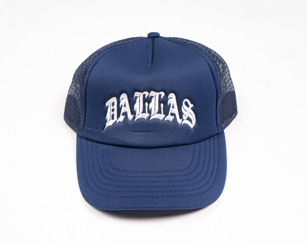 Image of DALLAS TRUCKER HAT (NAVY)