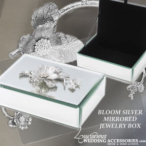 Image of Bloom Silver Mirrored Jewelry Box