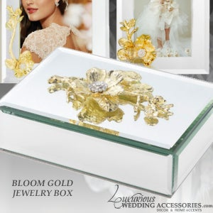 Image of Bloom Gold Mirrored Jewelry Box