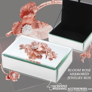 Image of Bloom Rose Pink Mirrored Jewelry Box