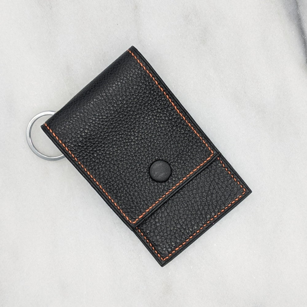 Image of ENTRY CARD Holder Key Ring – Black
