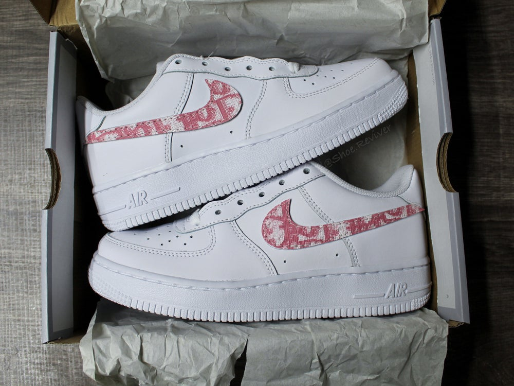 "Image of ""Pink Dior Swoosh"" Air Force 1"