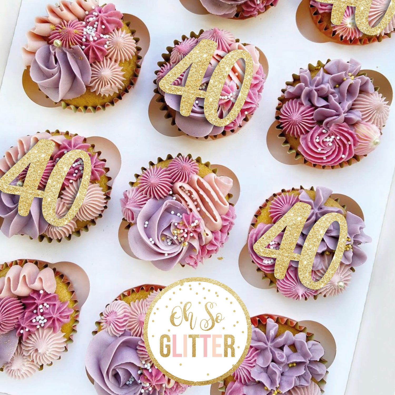 Image of Number cupcake toppers - any number