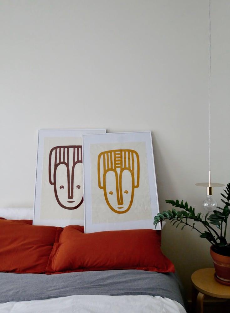 Image of Peinture MASQUE Ocre / CANVAS
