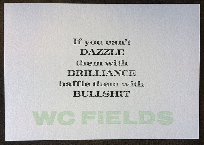 Image of WC Fields (A5)