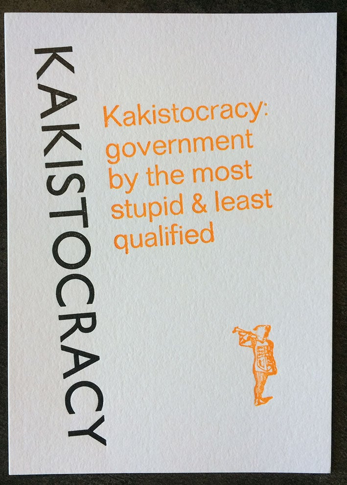 Image of Kakistocracy (A6)