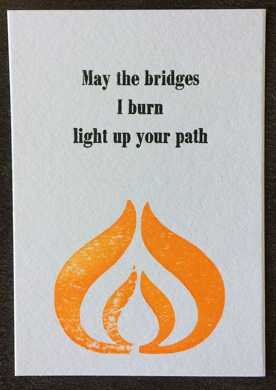 Image of Burning bridges (A7)